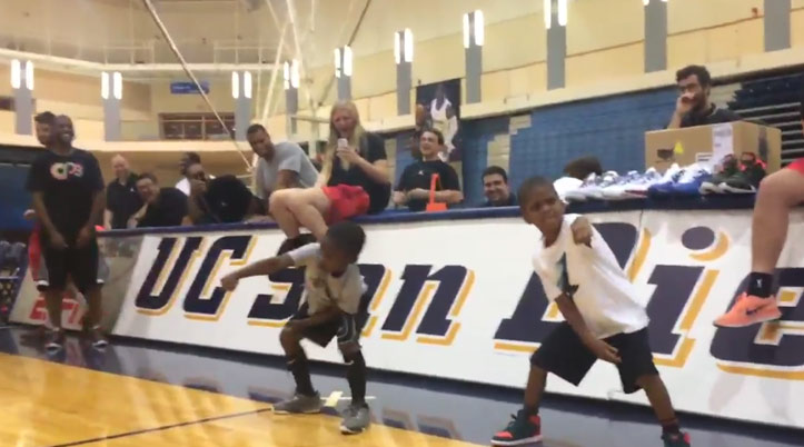Lil Chris Shows Off His Dance Moves at the Chris Paul Youth Camp