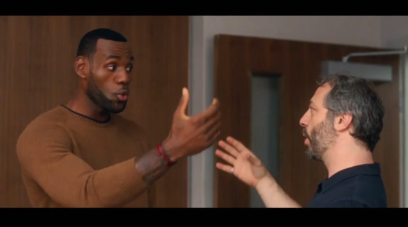 """Judd Apatow on directing & """"dominating"""" LeBron James on the set of 'Trainwreck'"""