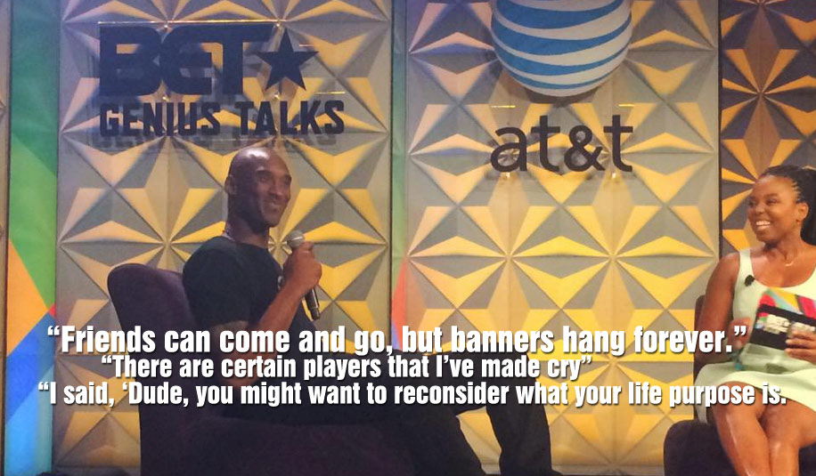 """Kobe Bryant Talks About Making A Teammate Cry, """"Friends can come & go, banners hang forever"""""""