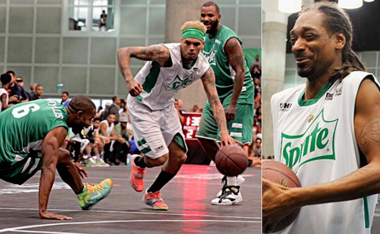 Chris Brown Breaking Ankles & Throwing Lobs at BET/Sprite Celeb Basketball Game (Snoop, The Game, Fifth Harmony, Lil Dicky)