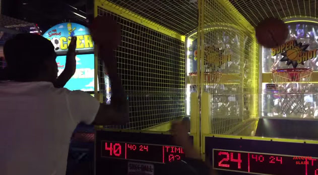 "Kevin Durant Crashes Kids Birthday, Beats Kids by ""Cheating"" At Pop-a-Shot"