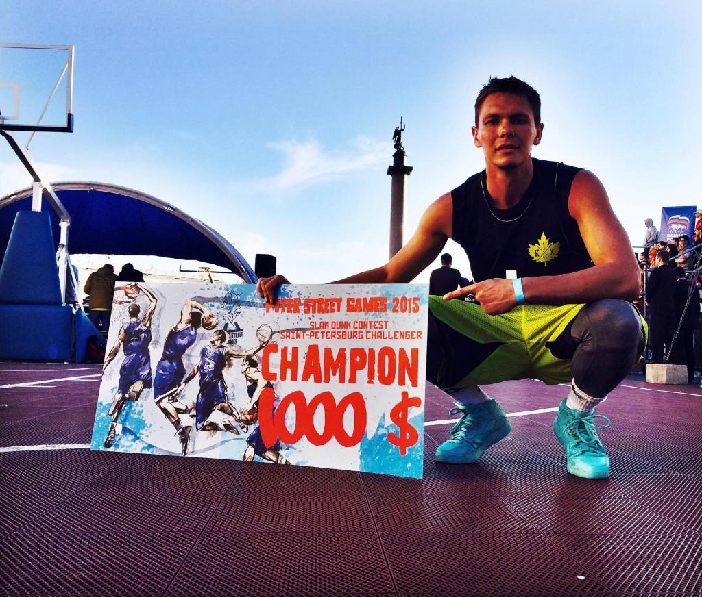 Smoove wins his third straight Piter Street Games Slam Dunk Championship