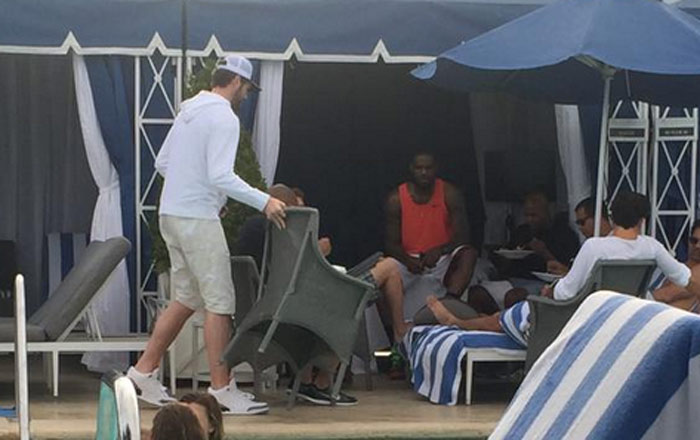 Cavs Opt-outs LeBron James & Kevin Love Meeting Together At A Pool