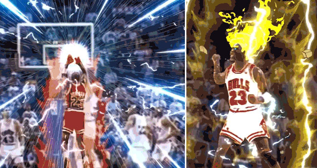 "Michael Jordan's Famous ""The Shot"" Over Craig Ehlo (Dragon Ball Z Style)"