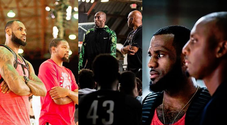 LeBron James Doing Yoga & Running Drills | Pics From the 2015 Nike Basketball Academy
