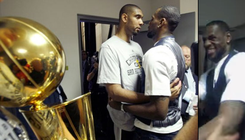 Funny Postgame Conversation Between Duncan & LeBron After The Spurs Swept The Cavs in 07