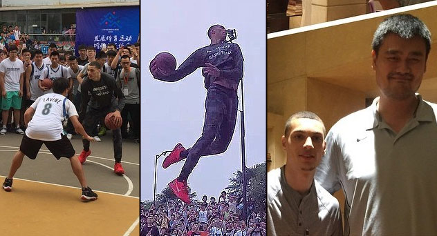 Zach LaVine's Trip To China: Great Wall, Great Yao & Great Dunks