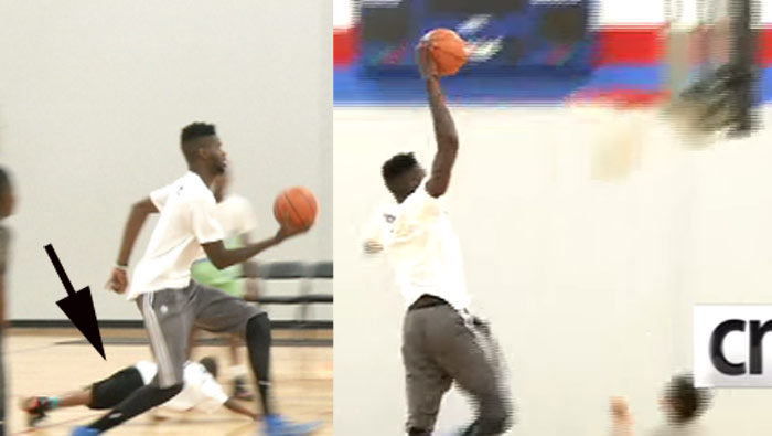 Nerlens Noel Dunks On Kid, Answers Hilarious Questions at Basketball Camp