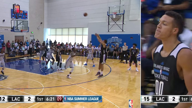 Aaron Gordon Catches Fire in 1st Quarter   22pts, 18rebs in OT win vs Clippers
