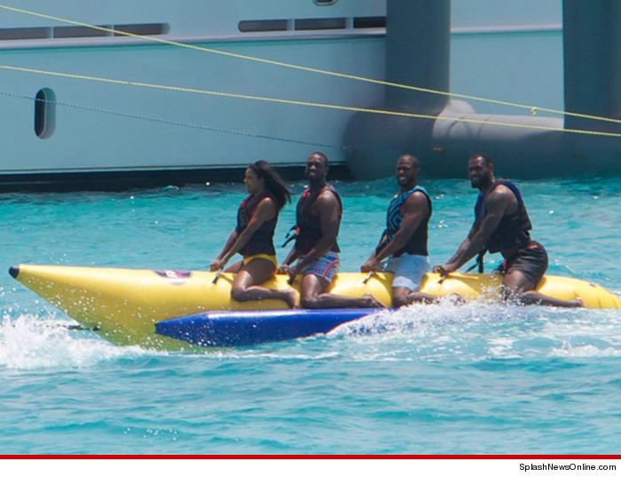 "The ""Hottest"" Pics From LeBron, Wade, CP3 & Melo's Vacation in the Bahamas"