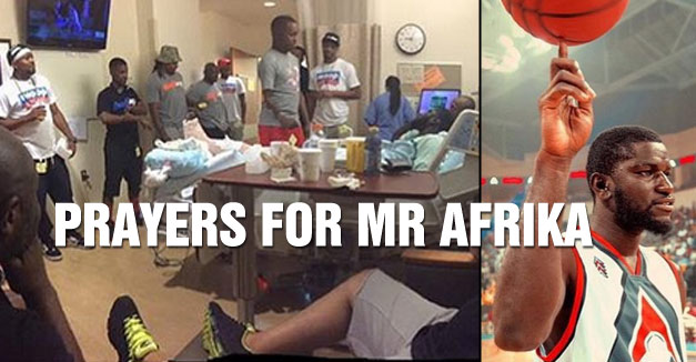Famous Streetballer Mr Afrika Breaks His Leg During Ball Up Game in Chicago