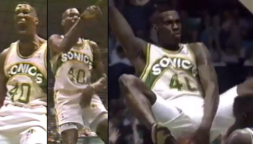 Shawn Kemp's most infamous post dunk celebrations | No taunting techs in the 90s
