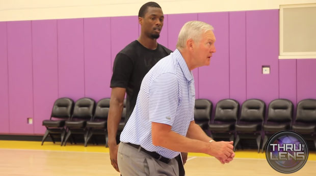 The Golden Footage: Jerry West Giving Tips to Harrison Barnes During a Workout