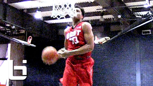 Miles Bridges Catches CRAZY Off The Backboard Windmill Dunk at Nike Global Challenge!!