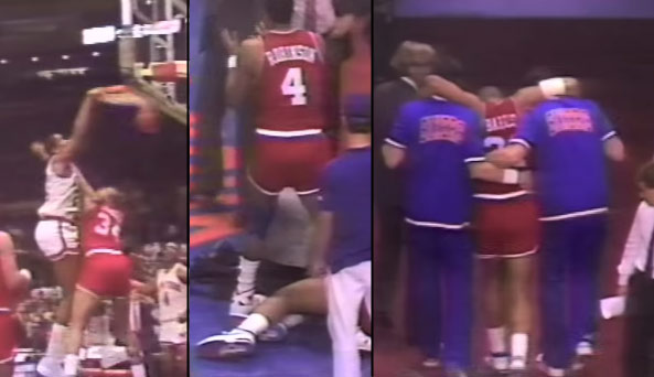 1988: Bill Cartwright Dunks On & Knocks Out Charles Barkley With His Deadly Elbow