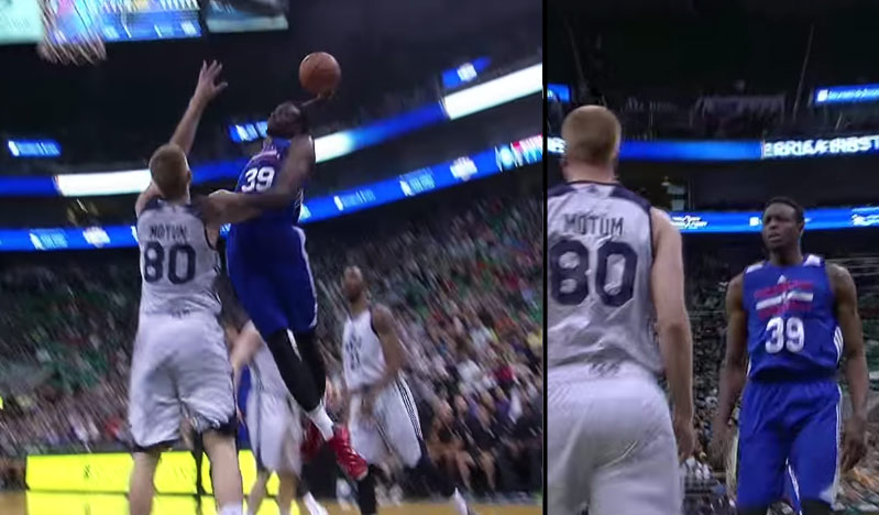 Jerami Grant Stares Down Brock Motum After Posterizing Him With a Nasty Dunk