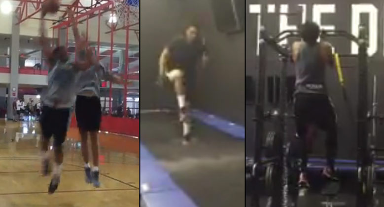Jabari Parker Dunking & Looking Good During ACL Rehab Workouts in Vegas