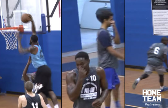 When Your Own Teammates Laugh At You After Getting Dunked On At The Orlando Pro-Am