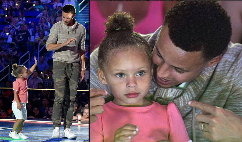 Steph Curry Sweeps Nickelodeon Kids' Choice Sports Awards, Riley Curry Once Again Steals the Show