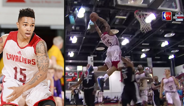 5'11 Keifer Sykes shows off his 44.5″ vert on a nasty alley-oop vs the TWolves