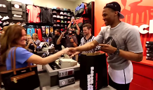 Russell Westbrook Works At A Footlocker, Introduces the Westbrook Zero At OKC Mall