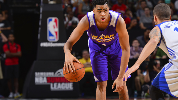 D'Angelo Russell 14 points & 8 rebounds against Okafor & the 76ers
