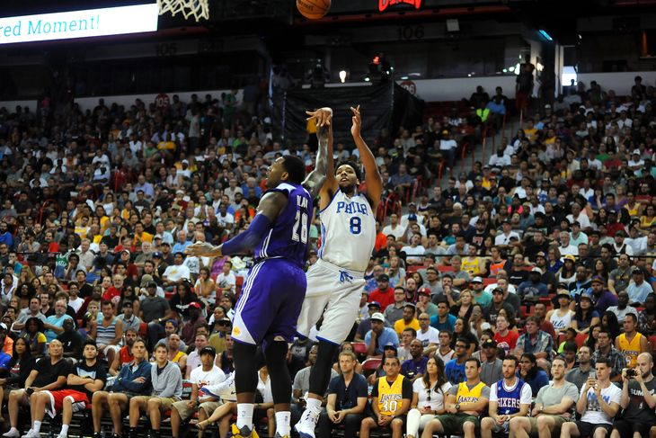 Jahlil Okafor Puts up 19 & 11 Against the Lakers, Blocks D'Angelo Russell