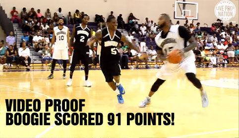 Video Proof DeMarcus Cousins Scored 91 Points in a Charity Game, showing off handles & making lots of 3-pointers