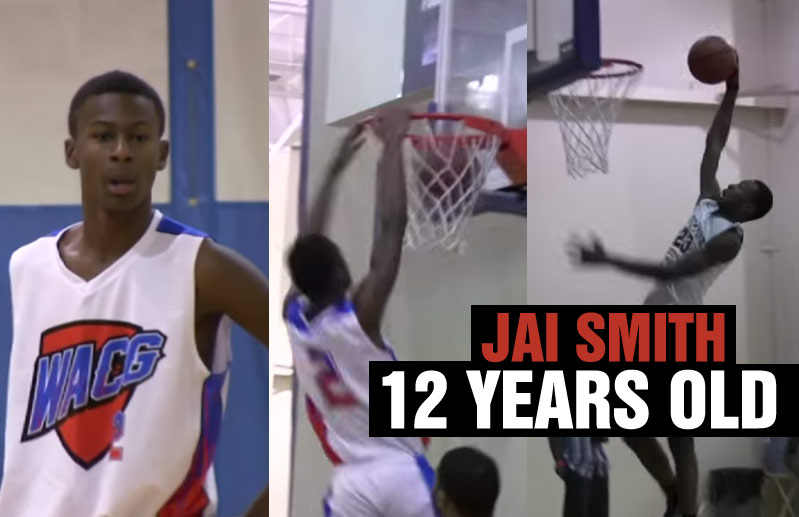 Top Ranked 6th Grader Jai Smith Dunking & Dominating Competition at All-Star Game