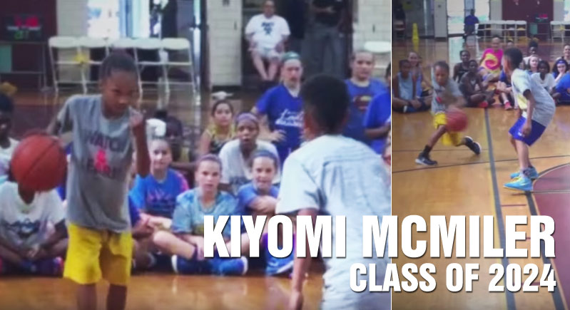 3rd Grader Kiyomi McMiller Calls Out A Boy And Then Destroys Him 1-on-1! Nice Shammgod!!
