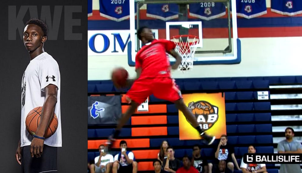 "The ""Best Dunker In High School"" Kwe Parker Commits To Rutgers"