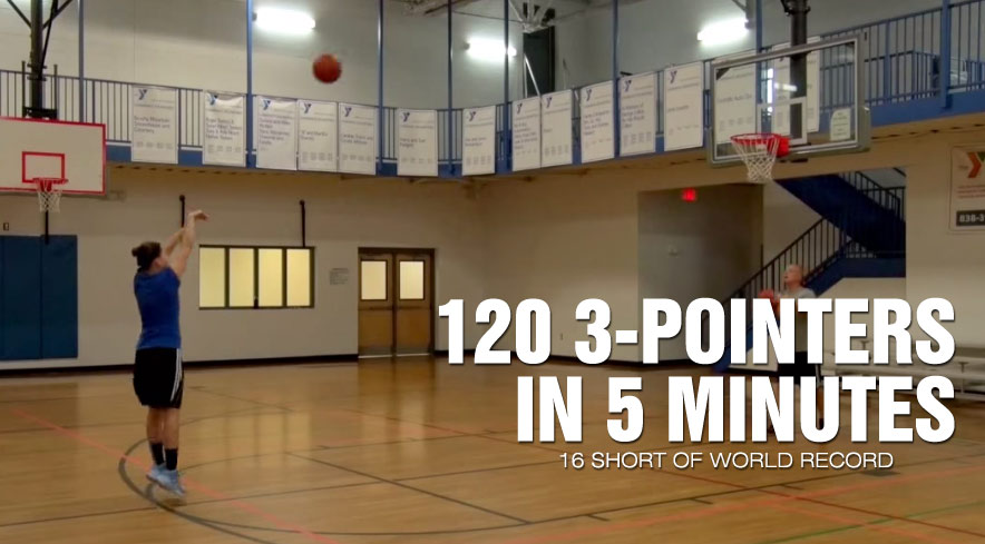 Watch This Female High School Baller Make 120 3-pointers in 5 Minutes (16 short of world record)