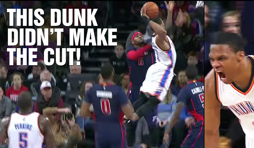 Top 100 NBA Dunks of 2014/15 + 1 Vicious Russell Westbrook Milk Carton Dunk