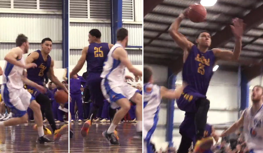 Ben Simmons continues to shine with spin moves, crossovers, dunks & clutch shots vs Queensland All-Stars