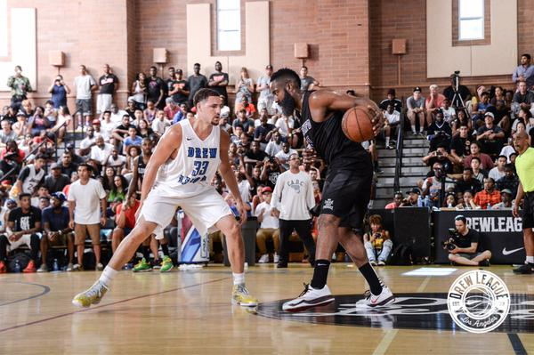 James Harden vs Klay Thompson In the Drew League Playoffs