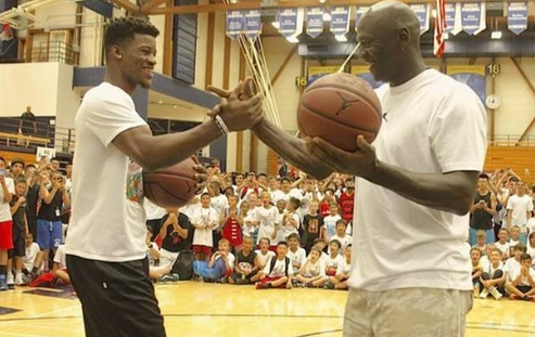Michael Jordan vs Jimmy Butler at Basketball Camp