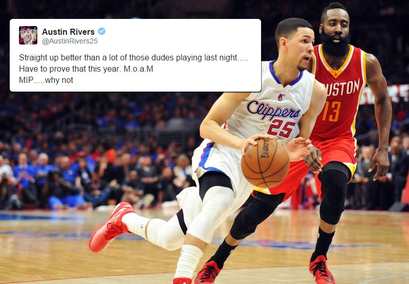 "Austin Rivers Says He's ""Better Than a Lot of Those Dudes"" on Team USA"