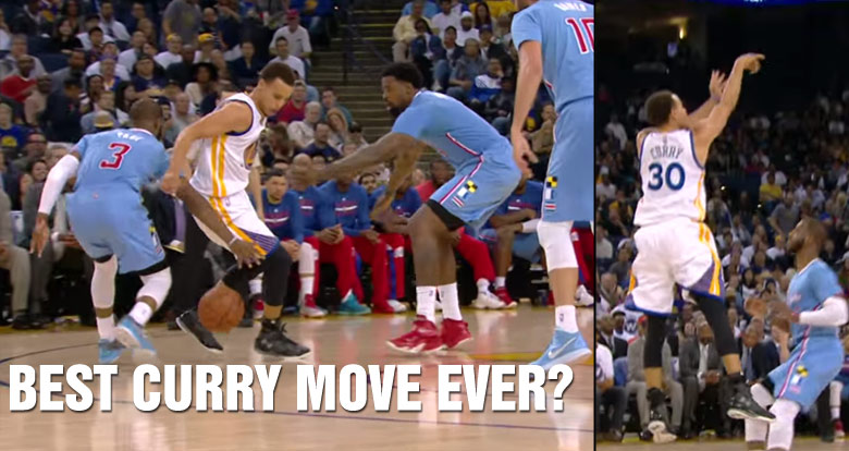 Steph Curry Reveals His Favorite Move of Last Season: 4-Dribble Combo to Off-Balance 3 Over Chris Paul