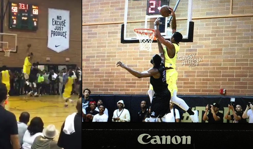 DeMar DeRozan Posterizes James Harden With An Alley-oop Dunk in Drew League Championship Game