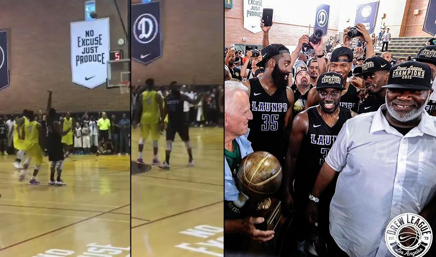 James Harden scores 37, hits game winner then points at Kevin Durant in Drew League Championship