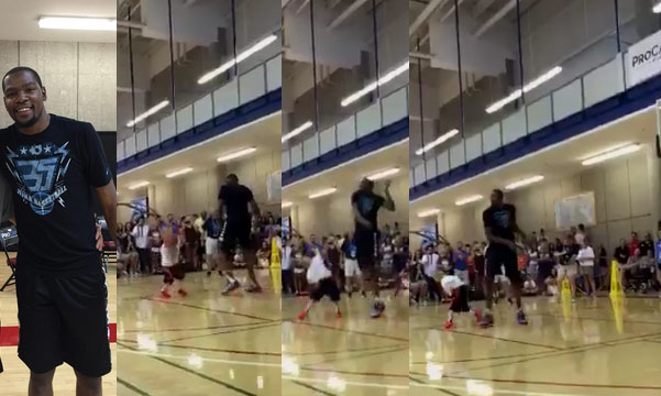Kevin Durant Showing No Mercy on Little Basketball Campers
