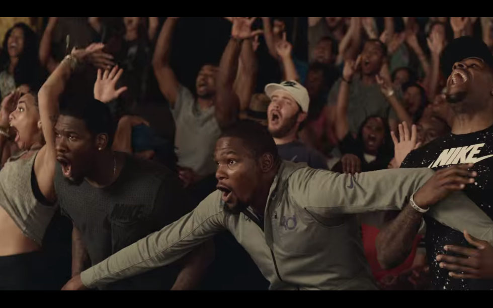 Kevin Durant & Crowd Hilariously Go Crazy Over A Dunk in New Footlocker Commercial