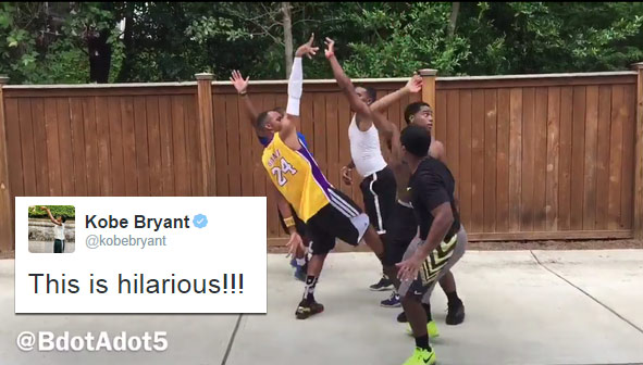 Kobe Bryant Approves of Hilarious Impression of Himself by the World's Best Baller Impersonator
