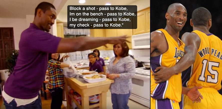 """Metta World Peace Dreams About """"Passing to Kobe"""""""