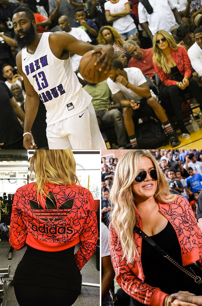 James Harden and Khloe at the Drew