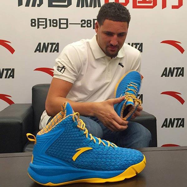 anta amp klay thompson unveil signature shoe ballislifecom