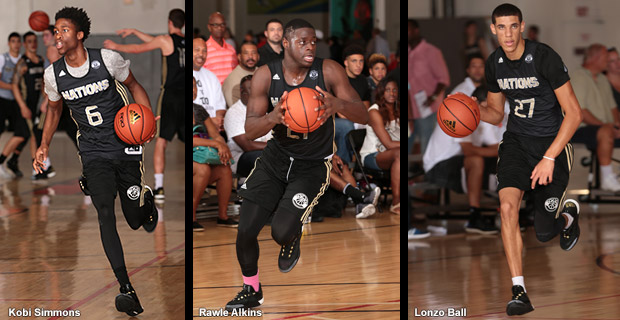 Adidas Nations - Kobe Simmons, Rawle Alkins & Lonzo Ball