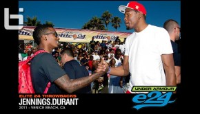 Brandon Jennings and Kevin Durant in Venice Beach