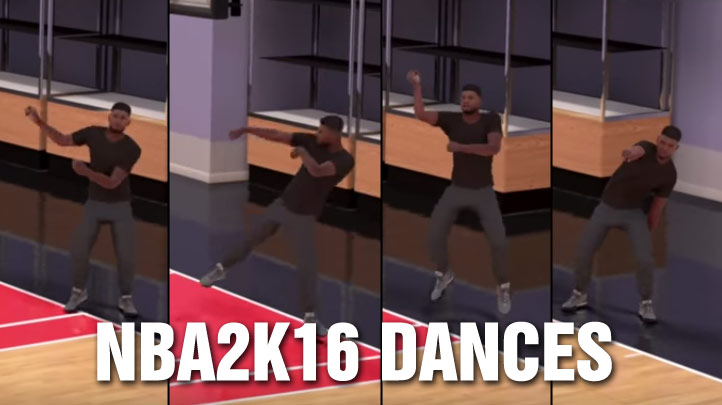 NBA 2k16 Dances & Celebrations: From Michael Jackson to the Carlton to the Whip & Miley Cyrus