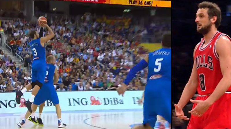 Marco Belinelli Catches Fire (7-7 3pt in 2nd half) in Win Vs Spain